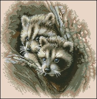 Dimensions 35253 Two Racoon Cubs